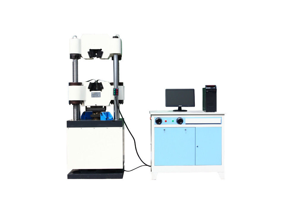 Manual Hydraulic Tensile Test Universal Testing Machines Panasonic Servo Motor